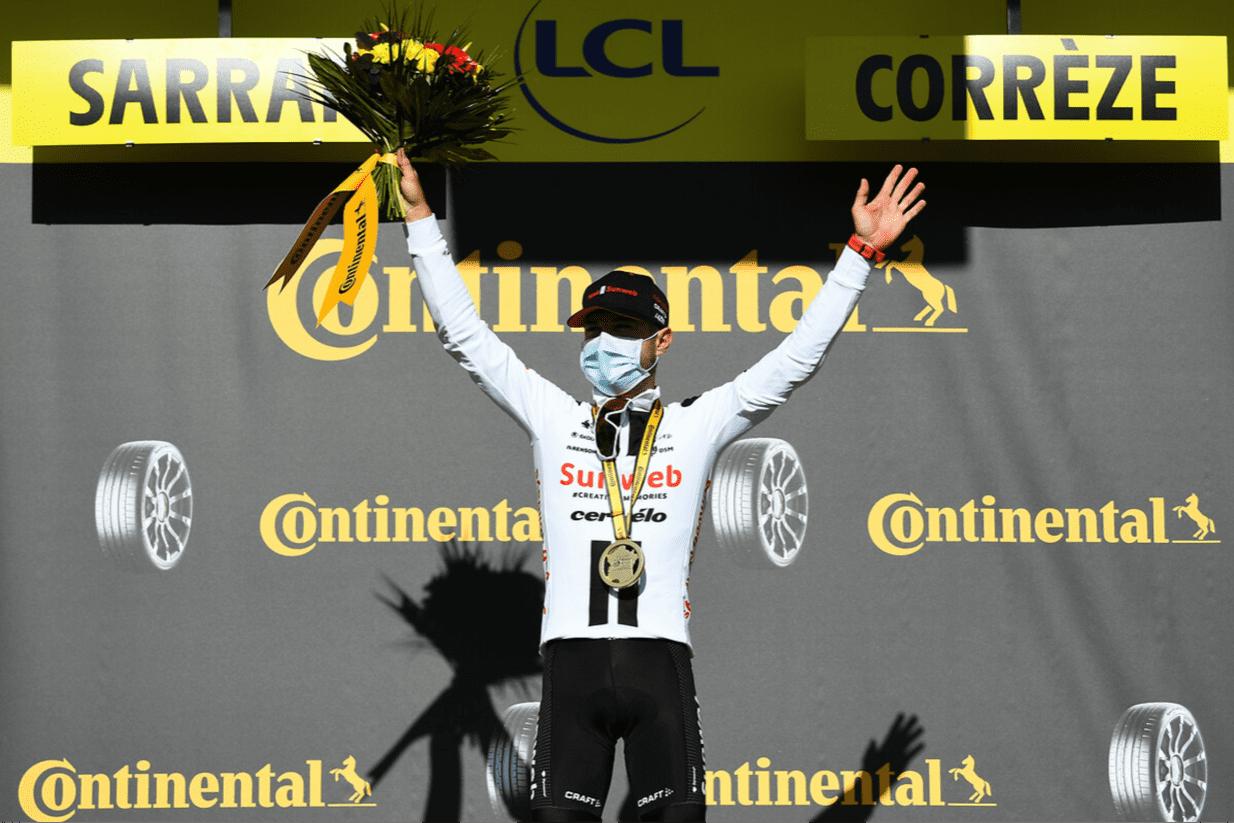 Marc Hirschi avec sa première victoire professionnelle au Tour de France