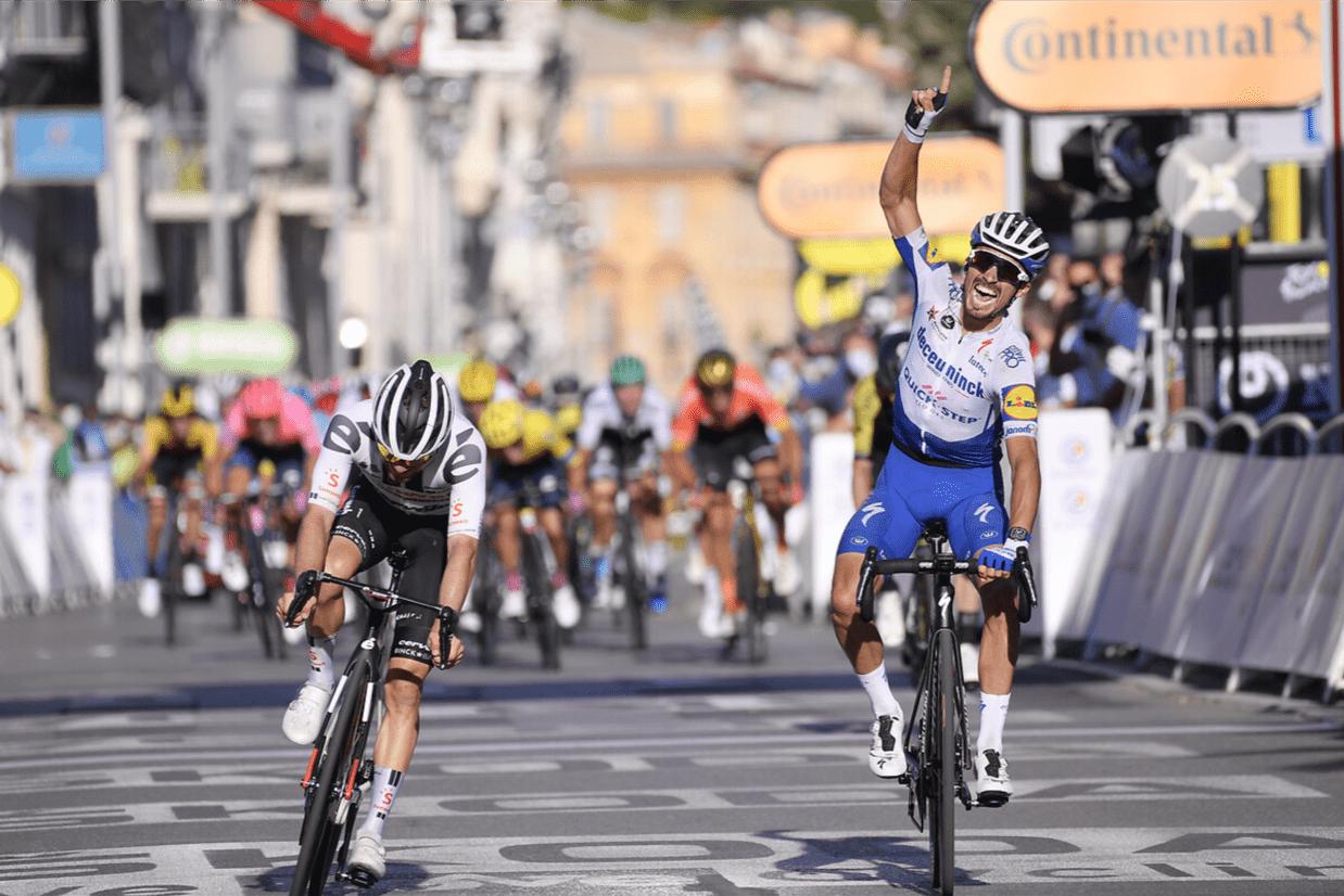 Julian Alaphilippe vince la seconda tappa del Tour de France 2020