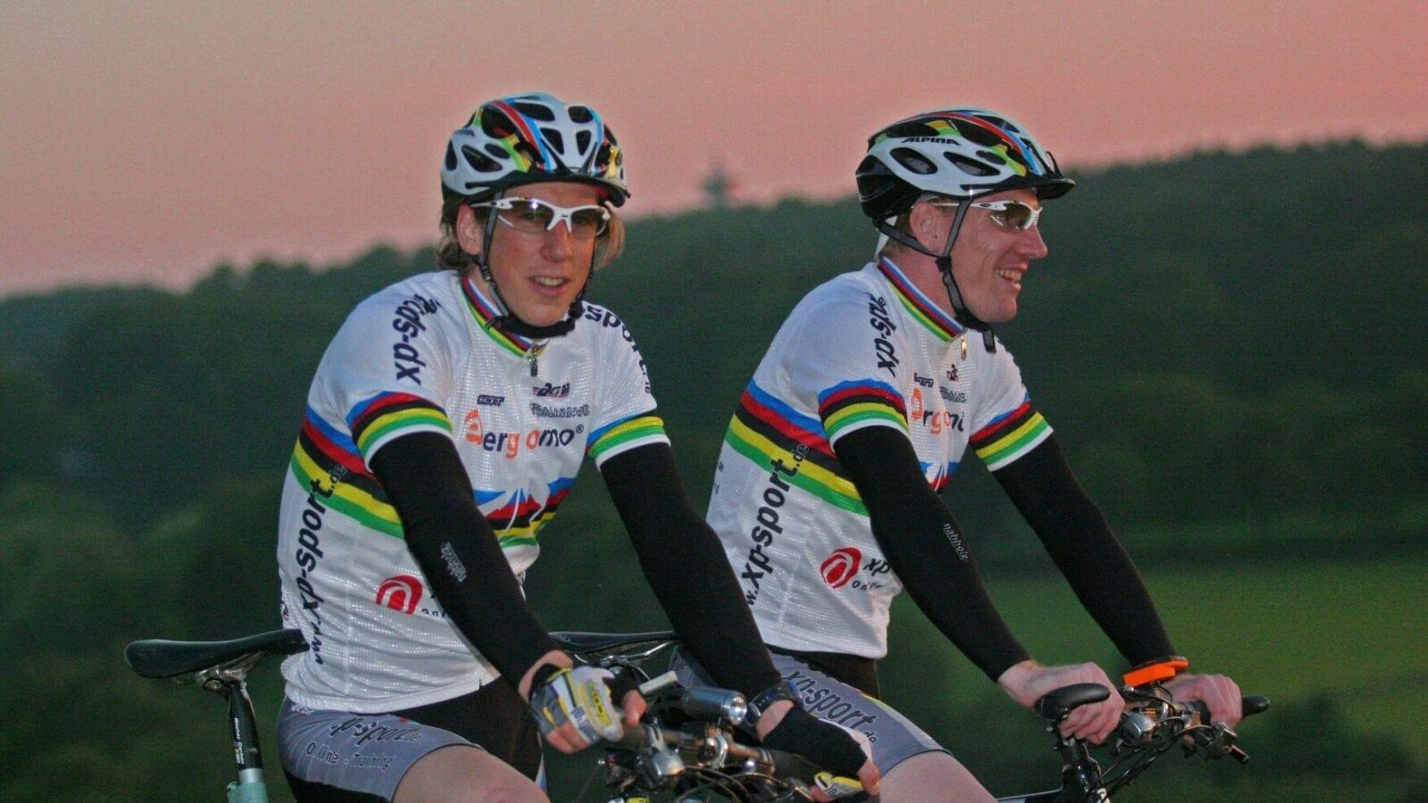 Radsport Weltmeistertrikot mit Regenbogenstreifen