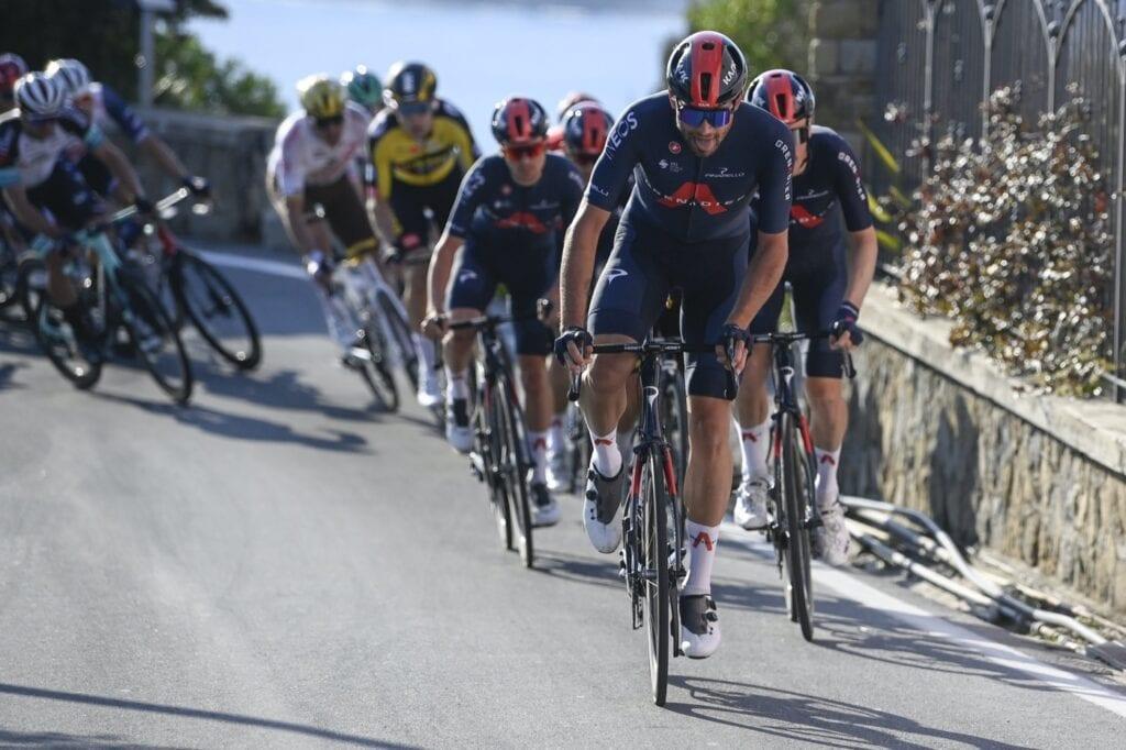 Filippo Ganna / Team Ineos Grenadiers at the Poggio near Milan SanRemo 2021